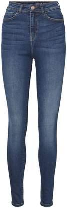 Noisy May Lexi High-Waist Skinny Jeans