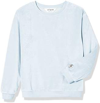 Kid Nation Kid's Cozy Soft Velour Sweatshirt Light Weight Pullover for Boys and Girls L