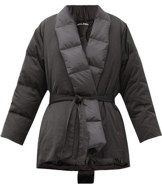 Holden - Quilted Down Wrap Jacket - Black