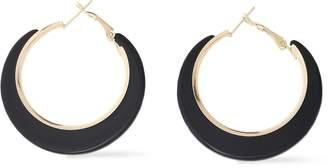 Kenneth Jay Lane Gold-tone Acetate Hoop Earrings