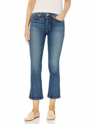 Hudson Women's Brixx High Rise Crop Flare 5 Pocket Jean
