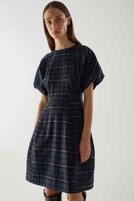 Cos Checked Wool Dress