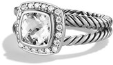 David Yurman Petite Albion Ring with White Topaz & Diamonds