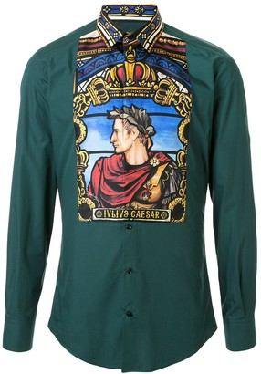Dolce & Gabbana Caesar-print long sleeve shirt