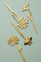 Anthropologie Brass Planter Marker Set