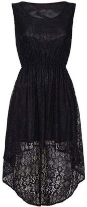 Yumi London Curve Floral Lace High Low Dress