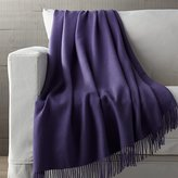 Crate & Barrel Lima Alpaca Wisteria Purple Throw Blanket