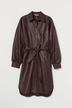 H&M Leather shirt dress