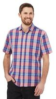 Maine New England Rose Checked Print Linen Shirt