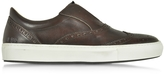 D'Acquasparta D'Acquasparta Urban Dark Brown Leather Men's Sneaker