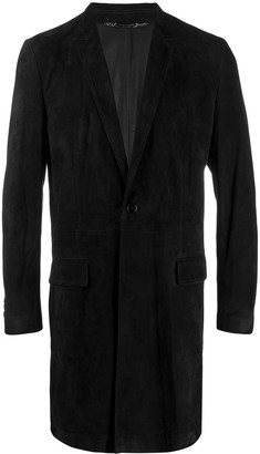 Dolce & Gabbana suede single-breasted coat