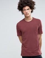 Minimum Delta Slub T-Shirt In Burgundy