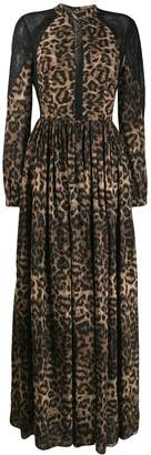 John Richmond leopard print maxi dress