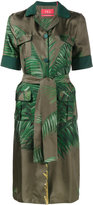 F.R.S For Restless Sleepers palm leaf print shirt dress