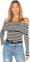 Milly Off the Shoulder Rib Pullover