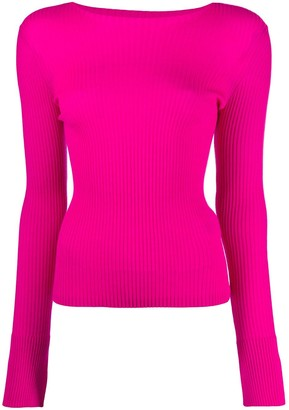 Mrz Ribbed Knit Scoop-Neck Jumper