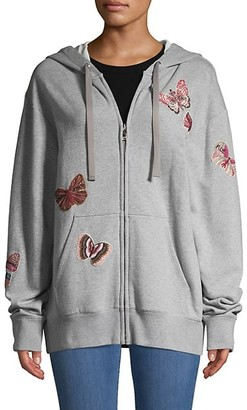 Valentino Butterfly Patch Embroidery Oversized Hoodie