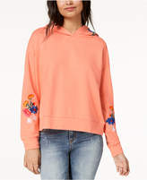Almost Famous Juniors' Floral-Embroidered Hoodie