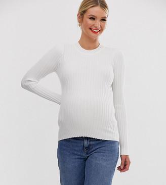 ASOS DESIGN Maternity crew neck sweater in skinny rib