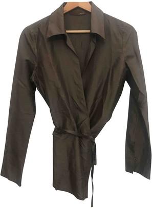 Bally Brown Silk Top for Women