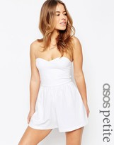 Asos Bandeau Romper with Strap Cut Out Back