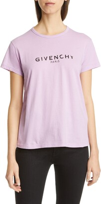 Givenchy Distressed Logo Cotton Graphic Tee