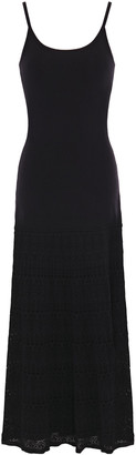 Sandro Roselyne Crochet-paneled Stretch-knit Midi Dress