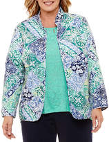 Alfred Dunner Montego Bay Quilted Jacket-Plus