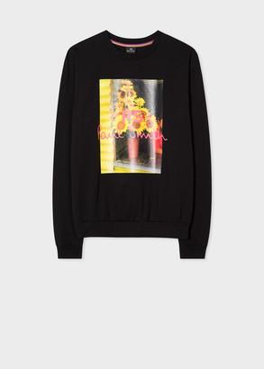 Paul Smith Women's Black Organic-Cotton 'Sunflower' Print Long-Sleeve T-Shirt