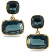 Lauren Ralph Lauren Lauren Treasure Trove Blue and 12K Gold-Plated Double Drop Pierced Earrings