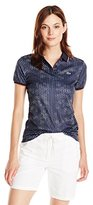 Lacoste Women's Short Sleeve Geometric Printed Technical Polo
