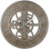 """Gears 21"""" Outdoor Clock"""
