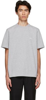 Stussy Grey Stock Logo T-Shirt