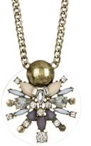 BaubleBar Nova Crystal & Stone Pendant Necklace
