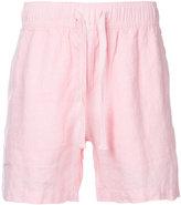 Venroy - drawstring deck shorts - men - Linen/Flax - S