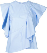 Le Ciel Bleu ruffled blouse - women - Cotton - 36