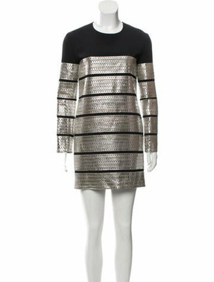 Tom Ford Leather Shift Dress w/ Tags Silver