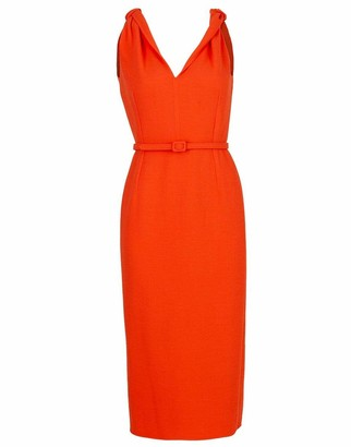 Oscar de la Renta Twist Strap Slim Dress