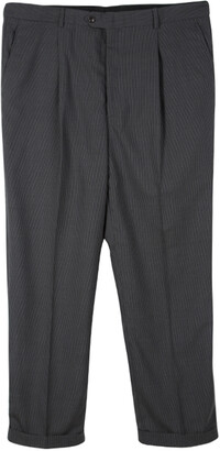 Armani Collezioni Grey Pin Striped Regular Fit Trousers XXXL