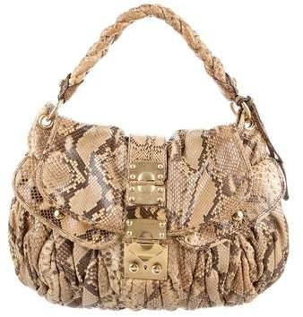 Miu Miu Python Coffer Bag