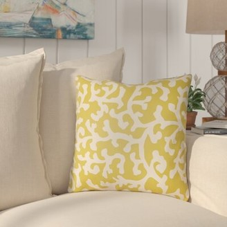 """Coursey Indoor/Outdoor Throw Pillow Highland Dunes Size: 20"""" H x 20"""" W, Color: Gray/Ivory"""