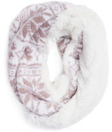 Muk Luks Snowflake Loop Knit Cold Weather Scarf