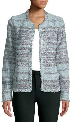 Petite Open Front Tweed Jacket