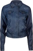 JOU JOU Hidden Zip Faux Leather Womens Jacket