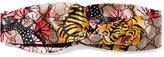 Gucci Twisted Printed Silk-satin Headband - Yellow