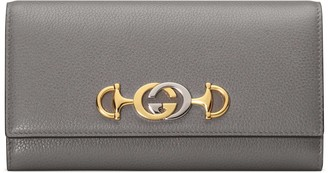 Gucci Zumi grainy leather continental wallet