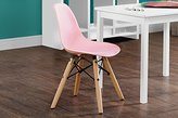 DHP C017710 Kids Molded Chair with Wood Leg, Pink