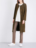 Theory Alioth suede coat