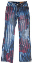 Just Cavalli Reversible Wide-Leg Jeans