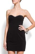MANGO Sweetheart neck dress